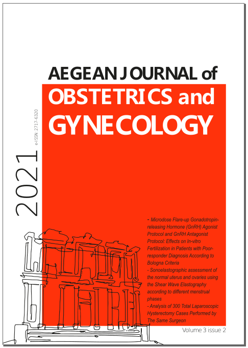 View Vol. 3 No. 2 (2021): Aegean Journal of Obstetrics and Gynecology